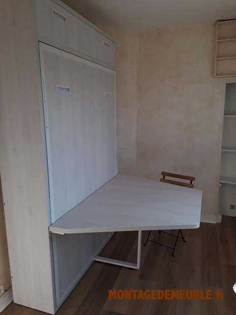 Lit Escamotable meuble monté par montagedemeube.fr - 19
